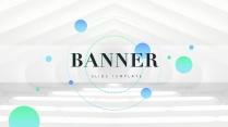 【色彩】蓝绿清新灵动商务PPT模板(双配色)