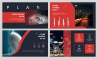 【简约商务】暗色大红高端精致图文杂志风PPT模板示例3