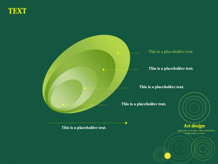 【简约深绿艺术圆圈ppt模板】-pptstore