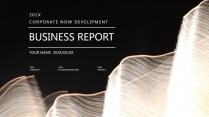 【黑金】高端大气极简通用商务报告年终汇报项目总结