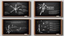 手绘风格简洁清爽PPT模板30(黑板)示例6