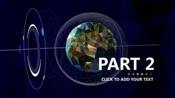 【全球化】大气炫目视觉 实用演示提案模板示例7