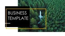 【50页图片占位符】欧美画册风黄黑视觉化商务模板示例2