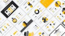 【黄色扁平商务图表25页】创意关系图表 简洁浅色4