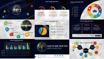 【全球化】大气炫目视觉 实用演示提案模板示例5