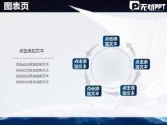 无限展望天空蓝色商务PPT模板示例3