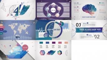 欧美立体 商务 创意 潮流 色彩 模板 时尚 示例7