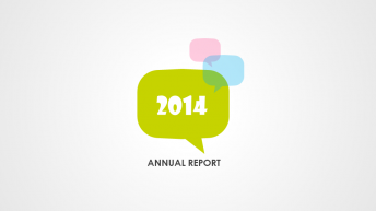2014小清新新年计划年终总结PPT模板