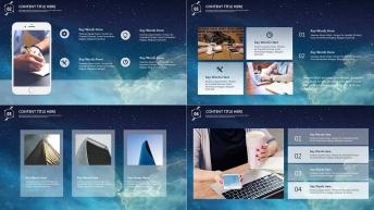 【星空-动态】现代商务总结汇报模板02示例5