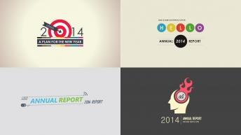 2014欧美风新年计划年终总结PPT模板合集4套