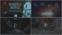 宇航员 行业 太空 科技 IT 通用PPT模板