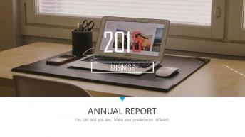 2015年双色商务年终总结汇报通用国际模板