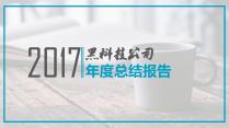 【有案例】科技蓝商业报告总结汇报通用模板