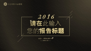 【极简主义-璀璨星光】高端黑金炫酷大气商务报告 3