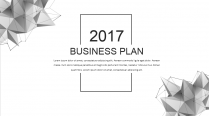 【耀你好看】点线灰白精致商业计划书2—双封面