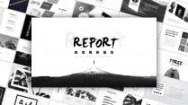 【极简主义5】酷黑留白高级灰&高端商务演示工作报告