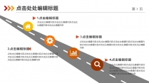 【总结报告】红黄橙年终总结简约大气示例6