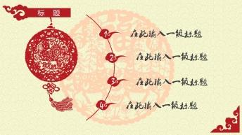 大气中国红新年春节开年工作规划商务PPT示例3