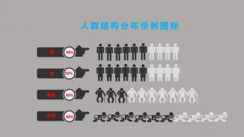 人群结构分析图表