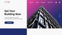 【商務中國】網頁風城市建筑商業工作總結匯報PPT