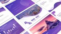 紫色高端大氣工作報告模板【208】