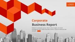 欧美图文混排商务总结报告多用模板10【红蓝双色】