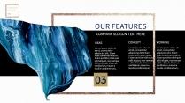 【氣質藍油彩】藝術創意視覺 時尚大氣通用商務模版示例7