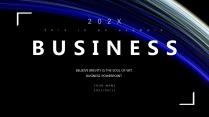 【蓝色科技】深邃极简商务报告总结计划模板