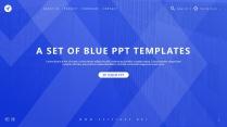 【杂志模板31】蓝色渐变 高端时尚 品牌营销提案