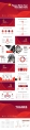 欧美 红色 创意 # 数据分析模板示例6