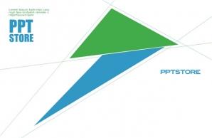 清新欧美范扁平化数据信息型PPT模板