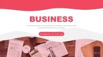 红色商务企业介绍总结报告模板3