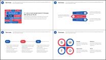 【企宣利器】大气红蓝企业宣传公司介绍项目推介PPT示例4