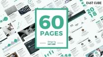 【绿色】极简商务报告纯色简约欧美企业通用模板
