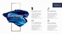【氣質藍油彩】藝術創意視覺 時尚大氣通用商務模版示例3
