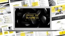 【商业】黑黄金简约通用商务报告年终汇报项目总结