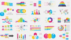炫彩信息风商务图表68套