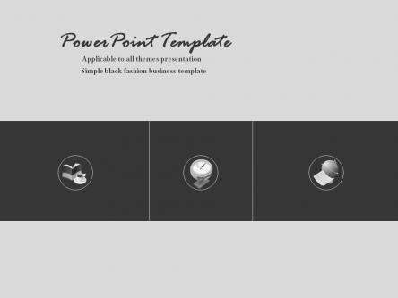 【简约灰黑商务ppt模板】-pptstore