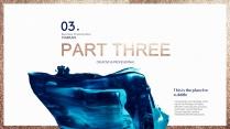 【氣質藍油彩】藝術創意視覺 時尚大氣通用商務模版示例6