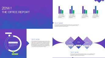 新简约2014精致商务总结信息图表模板(第12集)