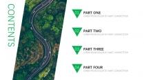 【震惊boss】森系绿色欧美杂志风商务模板示例4
