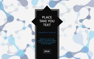 【动态】蓝黑灰创意设计商务工作计划PPT模板