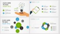 【藍綠雙色微立體商務圖表25頁】創意關系圖表示例2