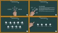 """【PPT-给你好看】""""开学啦""""黑板风创意排版模板示例3"""