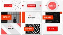 【欧美简约】红色排版现代商务汇报工作总结【含八套】