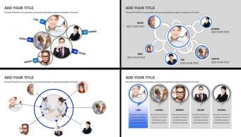 精美实用欧美风商务团队介绍展示模板示例2