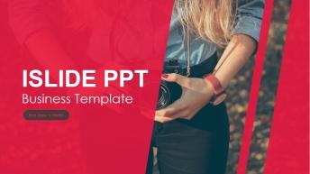 一个简约精致的企业文化展示类PPT模板