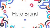 彩色几何公司企业科技品牌产品发布工作PPT