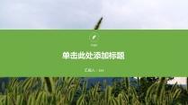 绿色环保简约汇报PPT模板