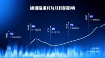 【科技】5G時代藍色炫光質感科技模板6示例4